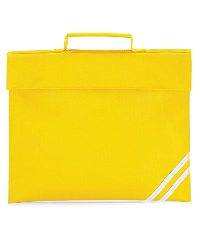 Quadra Classic tipo libro Unisex para la escuela bolsa para raquetas de tenis/College asa tejida de maleta de accesorios para estudiante de amarillo