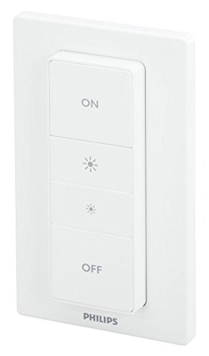 (Philips Hue Smart Dimmer Switch with Remote (Requires Hue Hub, Installation-Free, Smart Home, Exclusively for Philips Hue Smart Bulbs))