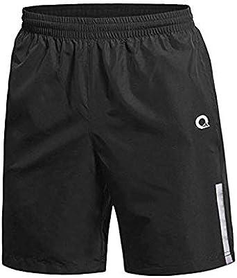 secado r/ápido pantalones cortos con bolsillo con cremallera Pantalones cortos de deporte para hombre