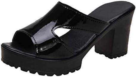 チャンキヒール ミュール サンダル レディース サボサンダル 歩きやすい シンプル ハイヒール 太ヒール プラットフォーム 厚底 オフィス 低反発 滑り止め 安定 痛くない コンフォート 走れる 春夏 つっかけ サンダル 靴
