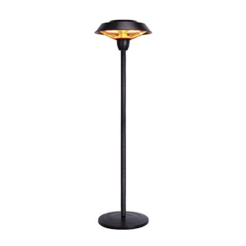 Star Patio Outdoor Freestanding Electric Patio Heater, Infrared Heater, Hammered Bronze Finished, Portable Heater Suitable as a Balcony Heater, BBQ and Outdoor Party Heater, ZHQ1566-C-S