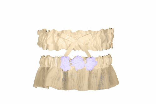 (Ivy Lane Design Wedding Accessories Chelsea Collection Garter Set, Ivory and Lavender)