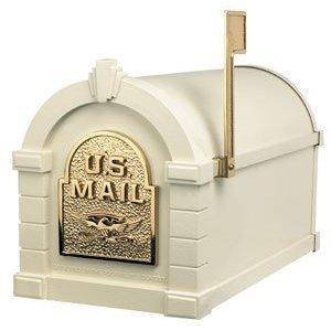 Gaines KS-3A - Eagle Keystone Series Mailboxes - Almond/Polished Brass