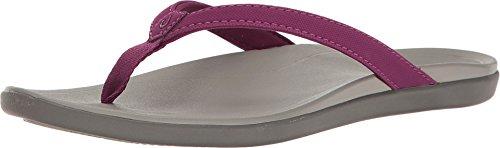 OLUKAI Women's Ho'Opio Magenta Purple/Cooler Grey 6 B US
