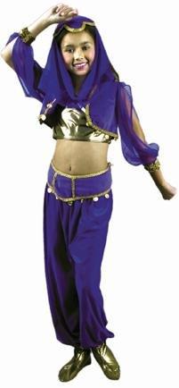 Turkish Dancer Costume (Child's Arabian Princess Costume Size: Youth X-Small 4-6)