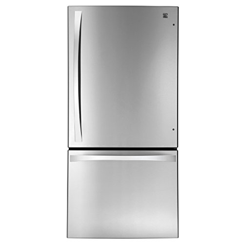 Kenmore Elite 79043 24 1 Cu  Ft  Bottom Freezer Refrigerator In Stainless Steel  Includes Delivery And Hookup  Available In Select Cities Only