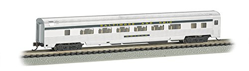 Bachmann Industries Streamline Fluted Coach with Lighted Interior - B&O (N Scale), 85'