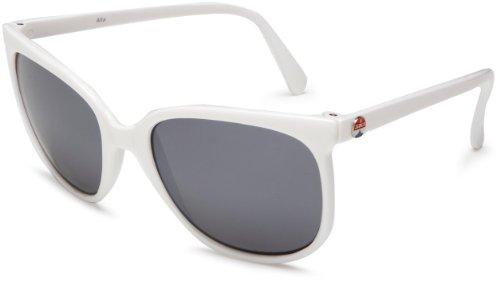 I SKI Alta Sunglasses,White Frame/Smoke & Silver Lens,One - I Ski Sunglasses