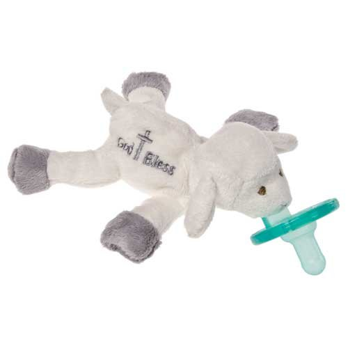 Mary Meyer Wubbanub Pacifier, God Bless Lamb (Cross God Bless Baby)