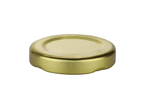 Nakpunar 24 pcs, 43 mm Gold Canning Jar Lids with Plastisol Liner