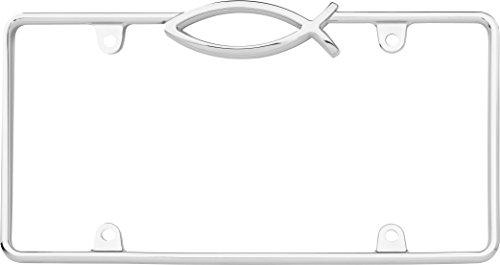 (Cruiser Accessories 1 29003 Ichthus License Plate Frame, Chrome)