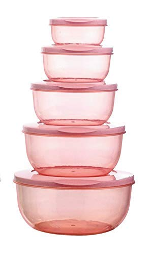 Bhavyam 5 pcs Plastic Container Set for Kitchen Refrigerator(290 ml,580 ml,1000 ml,1700 ml,2700 ml/Multi) Price & Reviews