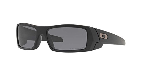 Oakley Mens Gascan Sunglasses (OO9014) Black Matte/Grey Plastic - Polarized - - Of Invention Sunglasses