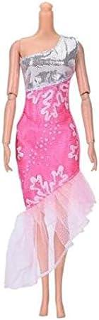 josep.h 10 St/ück handgefertigte Kleid Hochzeit Mini Kleid Mode Kleidung f/ür Barbie-Puppe