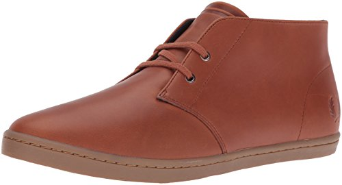 Fred Perry Mens Byron Mitten Läder Chukka Boots Tan