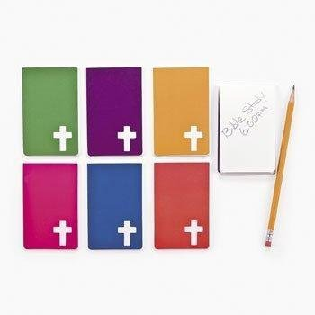Fun Express - Religious Notepads with Cross - Stationery - Notepads - Notepads - 24 Pieces