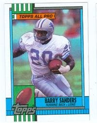 Barry Sanders Football Card 1990 Topps Rookie Card Detroit Lions 352