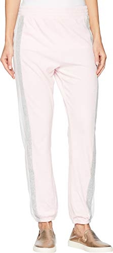 Juicy Couture Black Label Women's Velour Sporty Heritage Mid-Rise Pant, Whisper Pink, XS