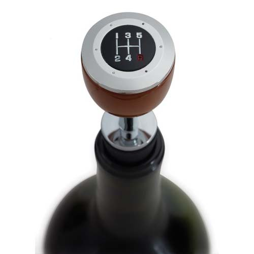 Creative Gifts 5 Speed Shift Bottle Stopper, Chrome Plated (Shift Plated Chrome)