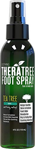 TheraTree Foot Spray for Shoe & Foot Odor with Tea Tree, Nee