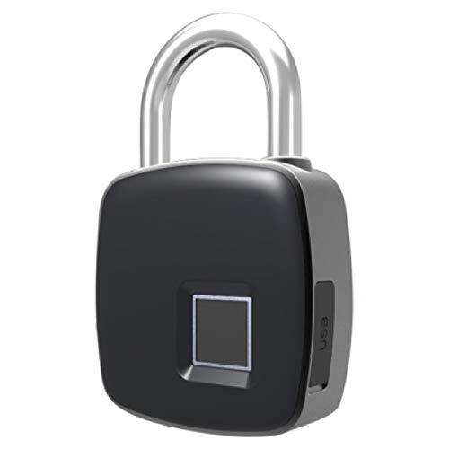 SDPAWA Portable Fingerprint Padlock Recognizer Waterproof Smart Keyless Biometric Lock Support USB Charging