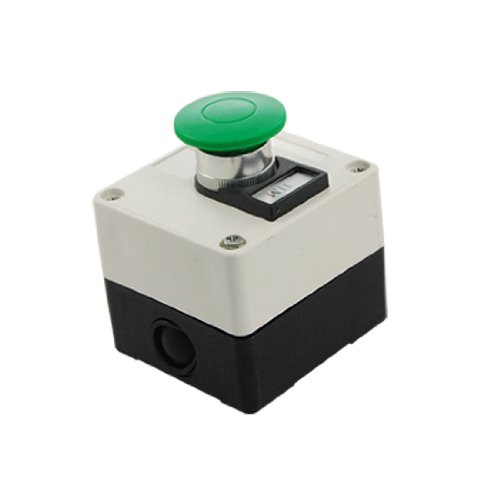 Uxcell a11090800ux0206 Grn Mushroom Momentary Switch Push Button Station (Mushroom Push Button Switch)