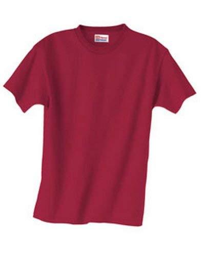 (Hanes 5.2 oz Youth COMFORTSOFT HEAVYWEIGHT T-Shirt,Large, Black)