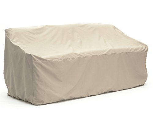 CoverMates – Outdoor Patio Sofa Cover – 82W x 40D x 40H – Elite Collection – 3 YR Warranty – Year Around Protection - Khaki