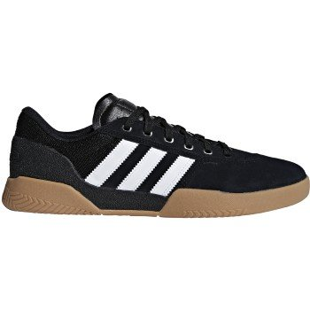 Adidas Leather Wrap - adidas City Cup (Core Black/White/Gum) Men's Skate Shoes-9.5