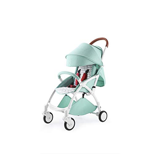 DXDZQ Lightweight Baby Stroller - Stroller Compact Convertible Luxury Strollers Collapsible, Travel, Fits in Overhead Compartments, Reclining Seat