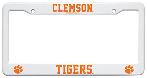NCAA Clemson Tigers Plastic Plate Frame, 12