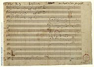 Wolfgang Amadeus Mozart Music Manuscript Poster Poster Piano Concerto in A Major K. 488 ()