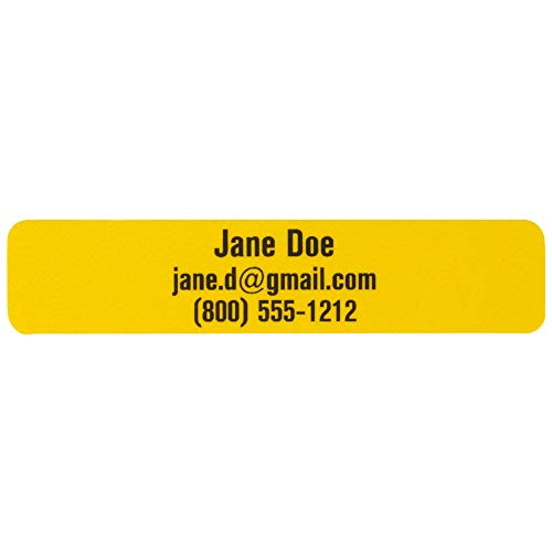 Bright Personalized Labels - Free Printing Custom Labels - 29 Assorted  IDmyStuff Labels for Daycare, School, Tools - Waterproof, Fade Resistant,