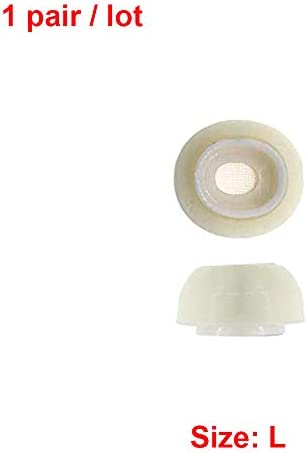 ホワイトメモリーフォームの交換イヤーパッドスリーブイヤーチップイヤフォンカバー耳栓キャップApple Airpods Pro用 (L(1 pair))