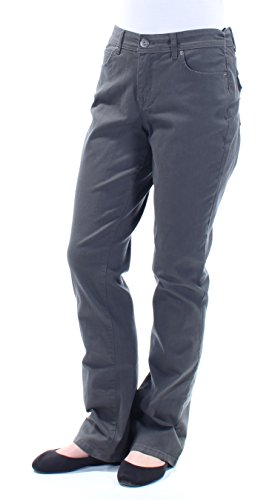 Style & Co. Womens Embellished Five-Pocket Bootcut Jeans Gray 8