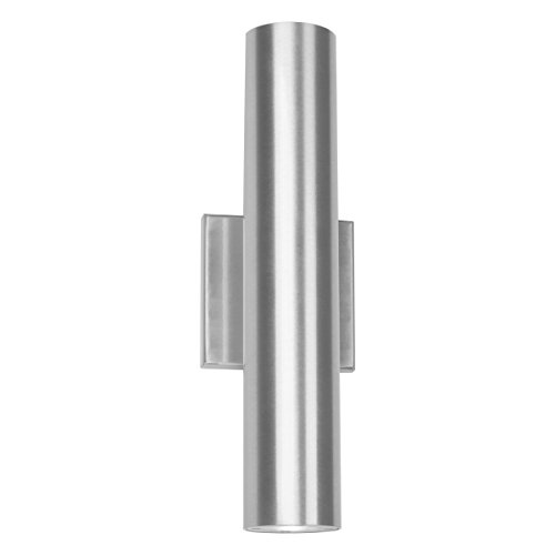 WAC Lighting WS-W36614-AL Caliber 2 LED Outdoor Wall Light in Brushed Aluminum, 14 Inches