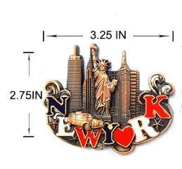 De Nueva York de lugares de recuerdo Metal imán para nevera diseño ...