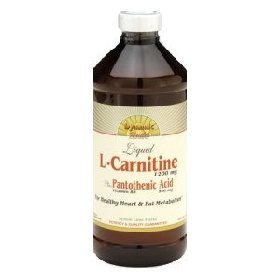 Dynamic Health L-Carnitine ( 1200 mg ) Plus Pantothenic Acid( Vitamin B5  500 mg), 16-Ounce