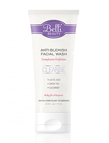 Belli Anti-Blemish Facial Wash – Cleanse Acne-Prone Skin – OB/GYN and Dermatologist Recommended – 3 oz.