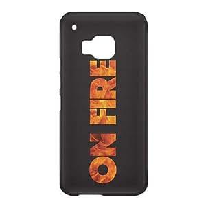 Loud Universe HTC One M9 On Fire Print 3D Wrap Around Case - Black/Orange