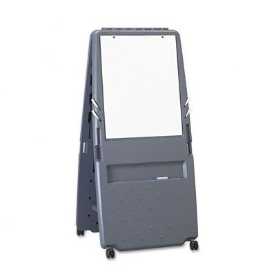 Iceberg ICE30237 Presentation Flipchart Easel with One Side Dry Erase Surface, Blow-molded Plastic Frame, 33'' Length x 28'' Width x 73'' Height, Charcoal by Iceberg