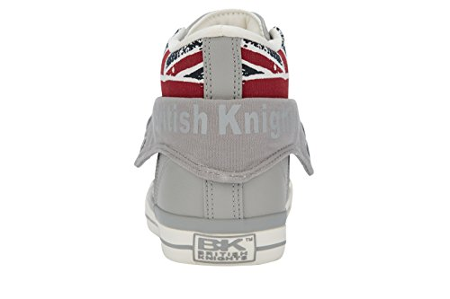 Kids' Child Unisex UNION 10 LT Knights Hi Roco Jack JACK British UK GREY Union Trainers Blanc Top 5 EHgRq5cB