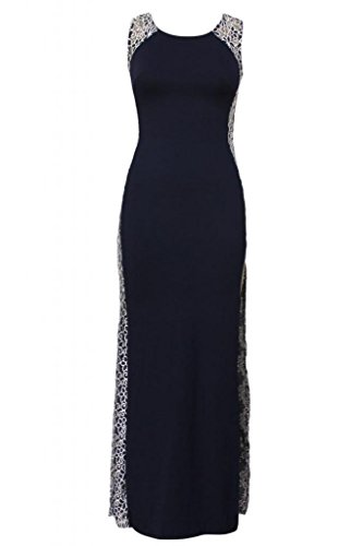Hellojuncao Women's Lace Side Maxi Dress With Tail Detail