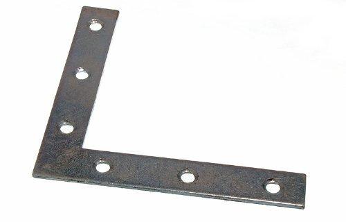 FLAT CORNER BRACE BRACKET 100MM X 16MM X 2MM 5MM HOLE BZP ( pack 25 ) by ONESTOPDIY.COM