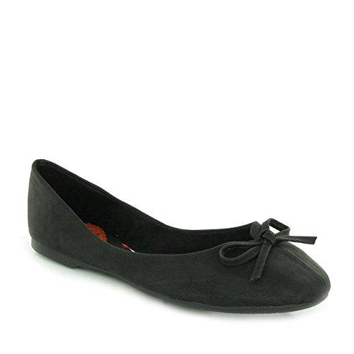 (Rocket Dog Womens Ballerinas Ballet Flats Shoes Black 6.5 B(M) US)