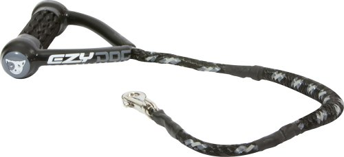 "EzyDog Cujo Shock Absorbing Bungee Dog Leash - Best Dog Rope Training Lead - Reflective Trim for Nighttime Safety - Padded Pull Handle for Superior Comfort and Control (25"", Black)"