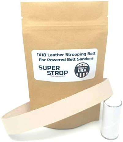 1X18 inch SUPER STROP Leather Honing Stropping Belt Fits Ken Onion Blade Grinding Attachment By Work Sharp