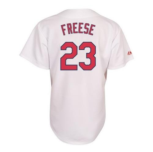 MLB St. Louis Cardinals David Freese White Home Replica Baseball Jersey, White, XX-Large