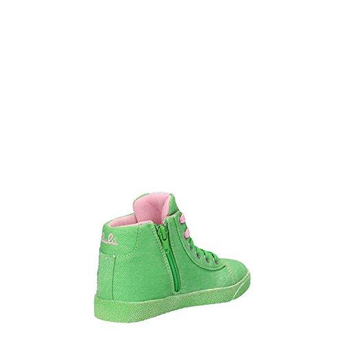 LULU' sneakers chica verde lona strass AG661