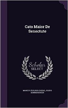 Book Cato Maior de Senectute